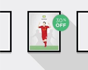 ON SALE!!! Philippe Coutinho Liverpool FC Football Print