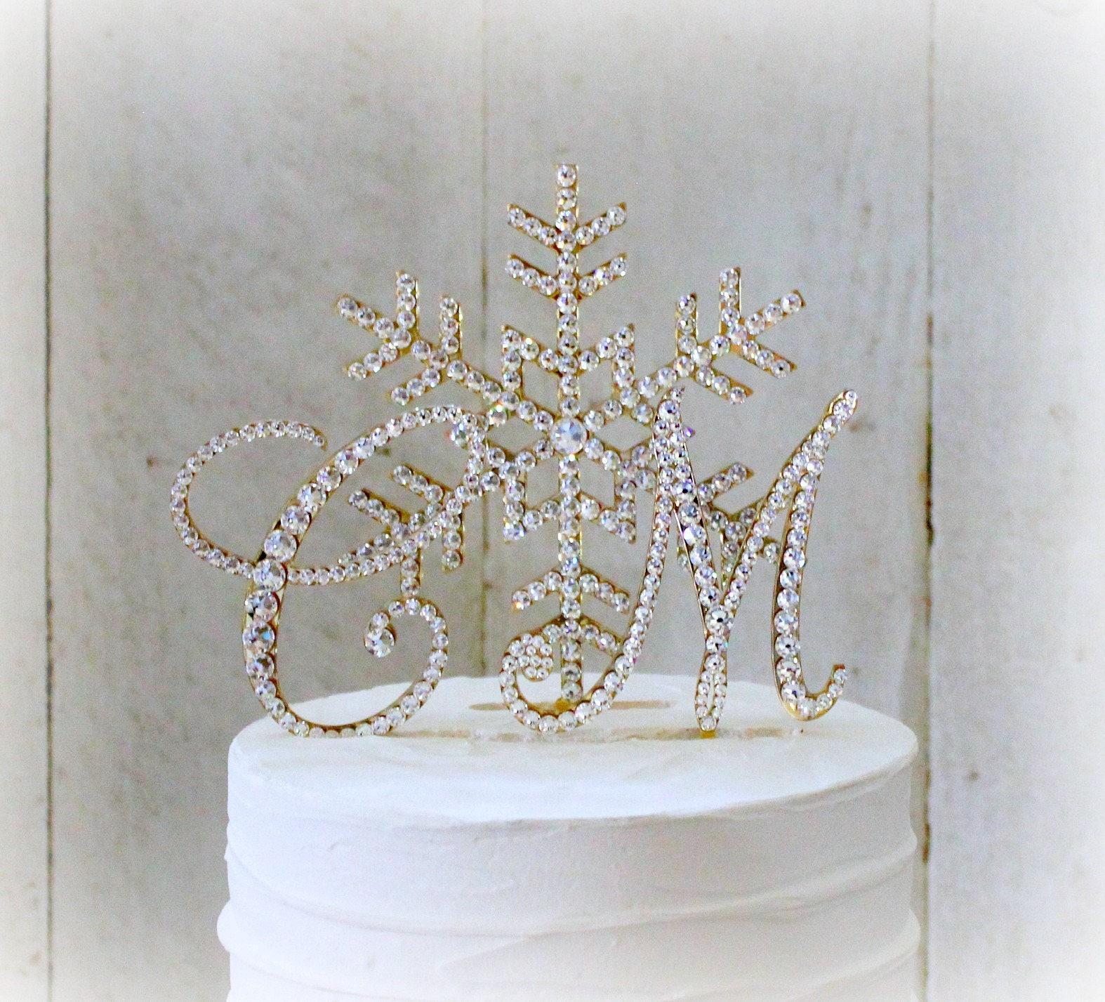 snowflake wedding cake toppers winter wonderland cake topper