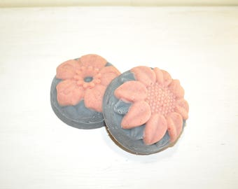 Valentine Flower Goat Milk Soap, Tea Tree Essential Oil and Activated Charcoal