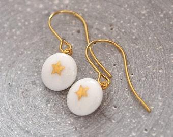 Porcelain earring