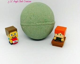 Minecraft Bath bomb surprise, surpise toy bath bomb, bath bomb for kids