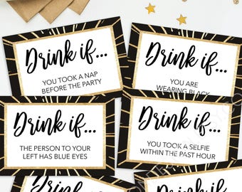 New Years Eve Party Game - Drink If Game - Printable New Year's Eve Game - New Years Eve Decorations - New Years Eve Ideas - Happy New Year