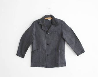 1950s Salt'n Pepper Work/Chore Coat - Size XS/S