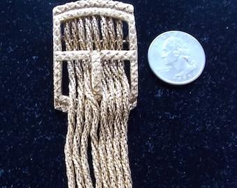 Gold Tone Belt Buckle Brooch or Pendant.  (713)