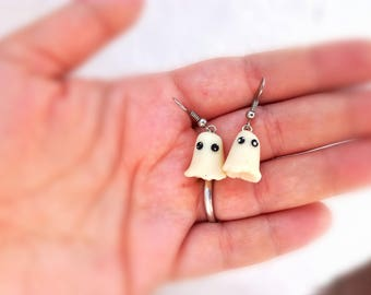 Ghost earrings - glow in the dark!
