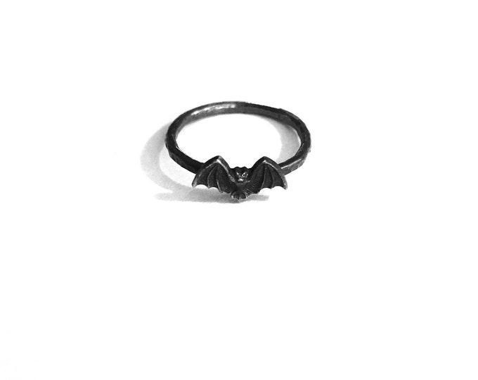 Bat Wing Ring - Silver and Brass