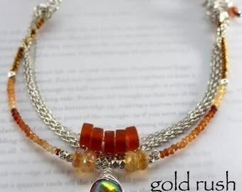 necklace, hessonite garnet necklace, citrine necklace, amber necklace, bohemian necklace, gold necklace, for her, spring trends, gold