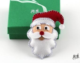 Santa decoration, Santa Christmas decor, Xmas decoration, Felt Santa decor, Santa Claus Tree Decoration, Santa Felt ornament, Santa hanging