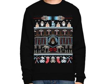 Star Wars Ugly Christmas SWEATSHIRT / The Last Jedi / Scifi / Skywalker / BB8