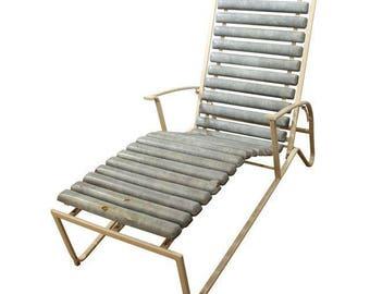 Mid-Century Danish Modern Samsonite Outdoor Patio Metal Lounge Chair