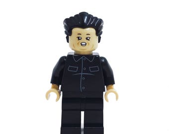 Kim Jung-un (North Korean Dictator) - miniBIGS Custom Figure made from Genuine LEGO Minifigure Elements