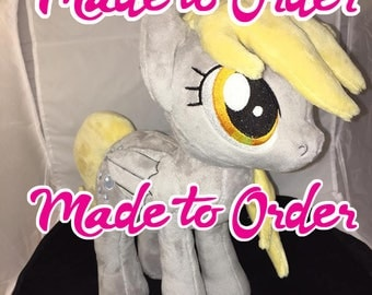 Made to Order - 13 inch Derpy Hooves plush (open or closed wings available)
