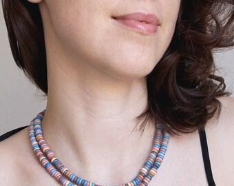 Bib colorful necklace woman-Bib ethnic necklace-Layered necklace bib-Ukraine necklace bib-Ukrainian ethnic-Ukrainian style-Made in Ukraine
