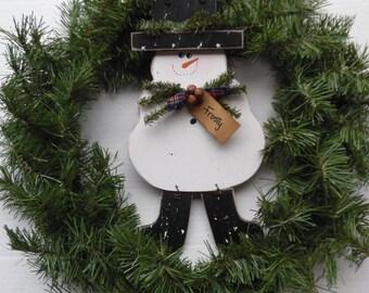 Seasonal Decor, Frosty the Snowman, Snowman Decoration, Christmas Decor, 15 X 7 Real Birch Hardwood, Hanmdade Wood Snowman, Made in the USA