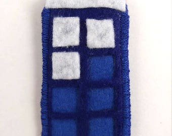 Dr Who TARDIS Logo Badge Pin Button Patch