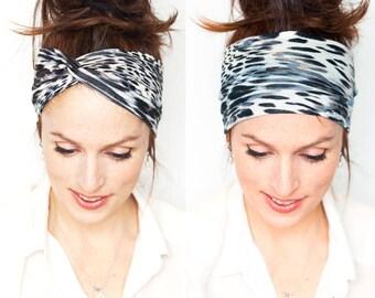Leopard Headband  Twist Headband Leopard Head Wrap Womens Headband Hair Accessories Runner Gift Hair Loss Hat  Vegan Knit Leopard Print Cats