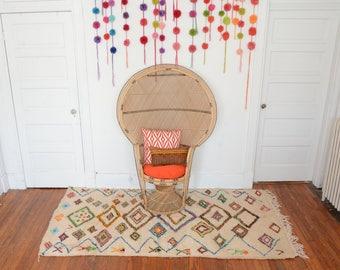Azilal Kilim Rug - Moroccan Berber Carpet - Statement Area Rug