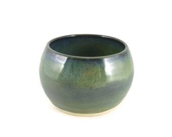 Mossy green blue - small bowl - tea bowl - pottery bowl