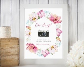 Oh Snap Tulip Bridal/Baby Shower Sign, Printable,