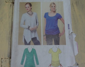 UNCUT Kwik Sew K3802 Misses' Tops Pattern  Sizes: XS S M L XL 2010