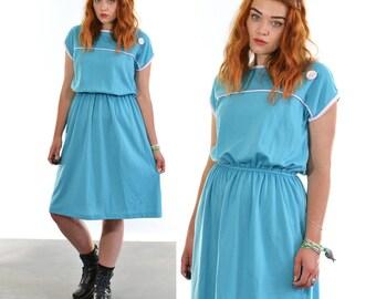 Vintage 80's Blue Dress