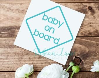 Baby on Board Diamond car Decal