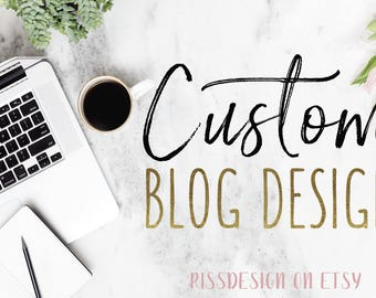 WEEKEND SALE! Custom Blog Design for Wordpress and Blogspot Blogs - Blog Design / Custom Blog Designs / Custom Blogs / Wordpress Blog