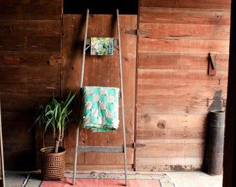 Vintage Blanket Ladder Rack, Orchard Ladder, Decorative Ladder, Wooden Ladder, Quilt Ladder, Rustic Ladder, Towel Ladder, Library Ladder