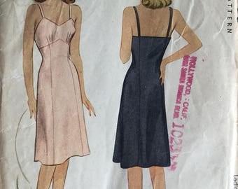 """1940's McCalls Sewing Pattern 5363 Misses Full Slip Size 18, Bust 36"""" uncut- retro sewing pattern,1940s slip pattern, 1940s slip, lingerie"""