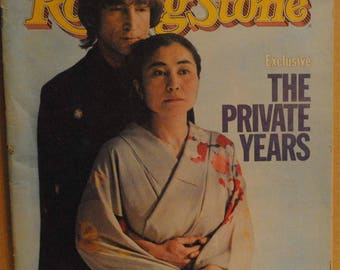 John Lennon and Yoko Ono The Private Years Oct 14, 1982 Rolling Stone magazine