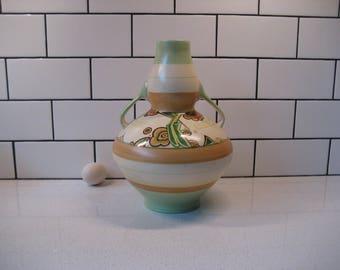 BOGO 40% OFF // XL Vintage Royal Winton Vase - R A R E - Grimwades - Omar - Handpainted - Two handles - Desert colours - c.1934-50 - England