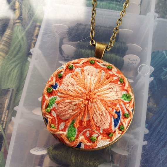 Orange Blossom Flower Necklace