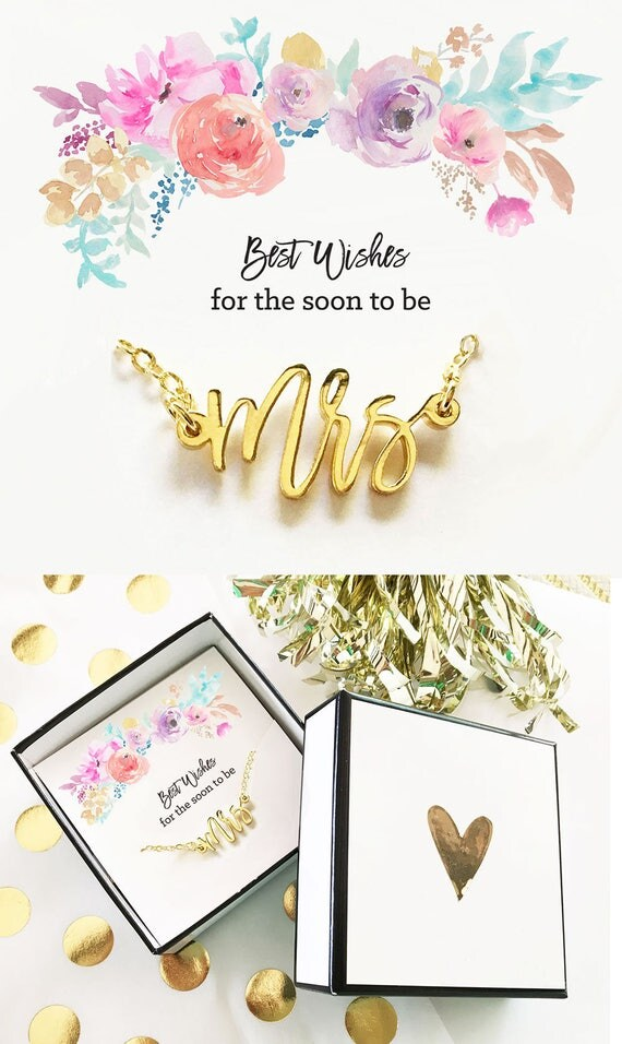 Future Mrs Necklace Bride Gift Future Mrs Gift For Bride