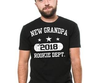 New Grandpa 2018 T-Shirt Grandfather Granddaddy Grandpa Birthday Gift Ideas Tee Shirt