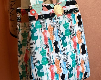 Dress Form Pattern Tote Bag