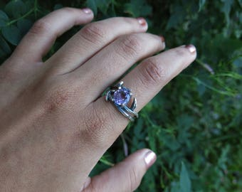 Size 8 Mystic Forest Amethyst Sterling Silver Ring