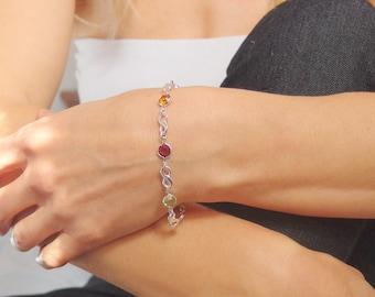Mother bracelet  Family bracelet Grandma bracelet Personalized Infinity bracelet Birthstone bracelet Personalized bracelet Mom jewelry