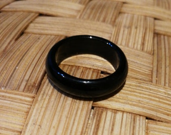 Black Jadeite ring 墨翠