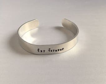 For Forever Cuff Bracelet You Will Be Found Dear Evan Hansen Musical - For Forever - musical dear evan hansen broadway jewelry Theater
