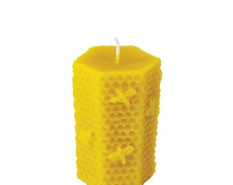 Beeswax candle - hive - 100% beeswax by our very own apiaries