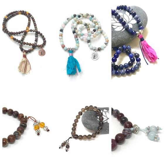 Add A Tassel To Your Bracelet, Mala Bracelet, Bohemian Style Jewelry, Mala Inspired Jewelry, Customize Your Bracelet