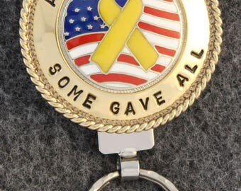 IN STOCK - Unless personalized - All Gave Some - Some Gave All - Metal Key Chain - Key Chain  - A one of a kind gift to show your support!