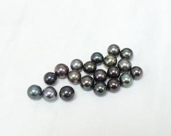 Wholesale 20PCS - Mixed 8mm Tahtian Pearls - Black Gray Silver Green