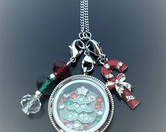 Christmas Floating Locket Necklace-Great Gift Ideas for Women