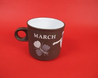 "Hornsea Lancaster Vitramic ""March"" Mug."