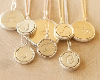 Keepsake Initial Pendants Handcrafted by Bare and Me on Etsy/ Holiday Gift Ideas for Mom/ Grandma Gifts/ Gifts for Mama/ Wedding Gift Ideas