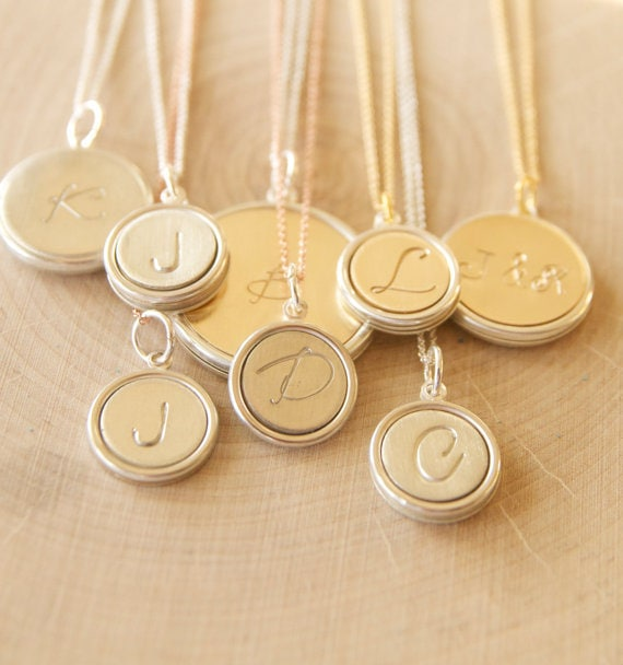 Sweet initial pendants