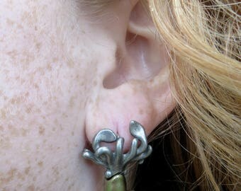 Squid Earrings - Squid Jewelry, Coeloid Cephalopod Earrings