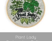 Hand Embroidery Pattern, Embroidery Pattern, Plant Lady, Plant Embroidery Pattern, Plants Embroidery, Modern Embroidery, DIY Embroidery