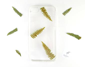 iPhone 7 / iPhone 8 plant inspired case with real pressed ferns